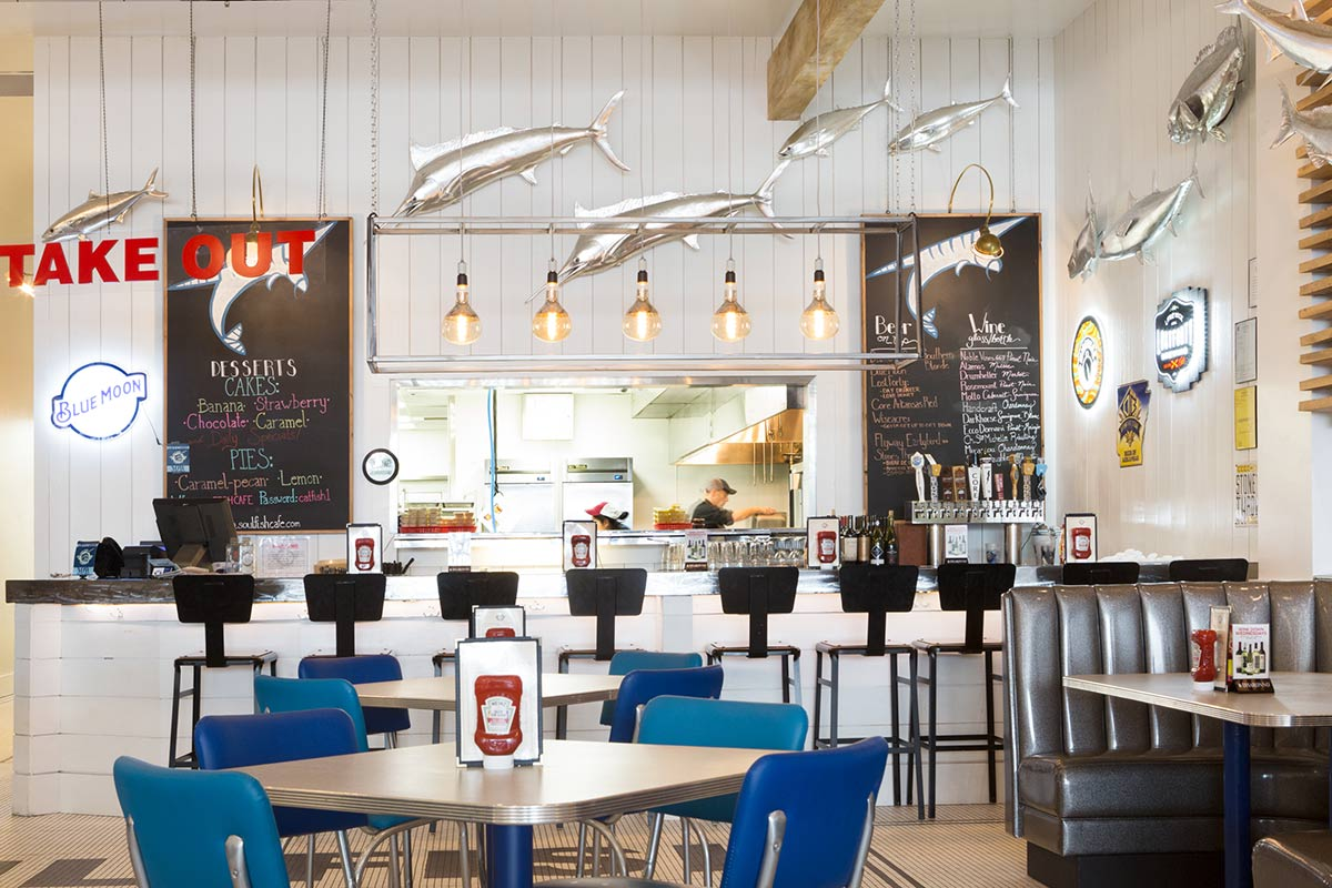 Soul Fish Cafe, Little Rock - interior design by GCD