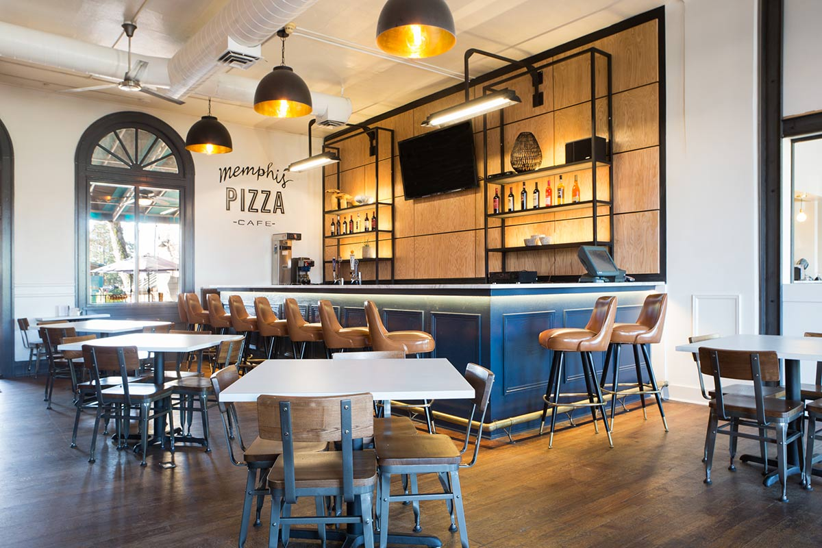 Memphis Pizza Cafe, Overton Square, Midtown Memphis - interior design by GCD